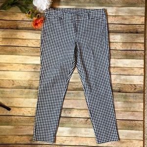 Old navy dark navy and white checked trouser pants
